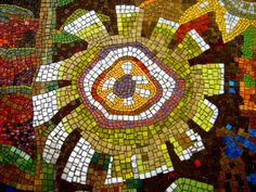 Some shots taken of the mosaic round the back of the merrion centre in Leeds.