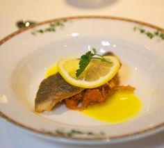 Pan-seared Mediterranean Sea Bream on bouillabaisse vegetable and saffron stock #dinner #yum #travel #food #fish