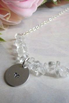 The premium disc can be left blank or engraved with your initials, short words or zodiac sign. This necklace is perfect for layering or to wear on its own and makes awesome gifts for your loved ones! Thoughtful, personal and unique. Material: 925 Sterling Silver - closes with a solid high quality Italian clasp. Premium Medium 13 mm disc Length - 45cm / approx 18 inches Quartz Crystal Necklace, Clear Quartz Crystal, Stone Necklace, Crystal Jewelry, Crystal Beads, Crystals, Jewelry Shop, Jewelry Gifts, Jewelry Design