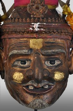 Old Thai hermit mask from ex-altar of a shaman - private collection of Stephane Peray - French artist based in Bangkok