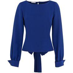 Oscar de la Renta Silk blouse ($595) ❤ liked on Polyvore