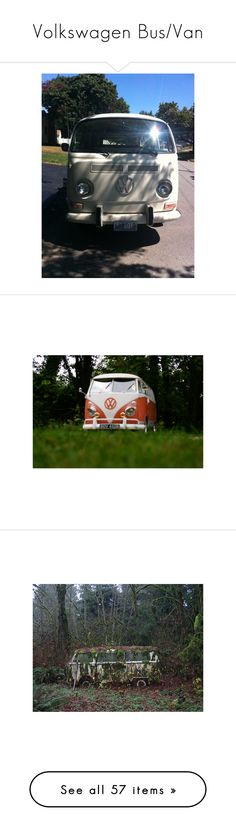 """""""Volkswagen Bus/Van"""" by blue-lightning ❤ liked on Polyvore featuring pictures, cars, blue, hippie, backgrounds, boho, orange, filler, green and photos"""