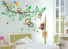 Tree Wall Decals: Toprate(TM) Monkeys and Tree Giant Baby/Nursery Wall Sticker Decals ,Super For Boys and Girls Nursery Room Home Decor Decal Children's Room by Toprate(TM). ............ Get Wall Decals at Amazon from Wall Decals Quotes Store