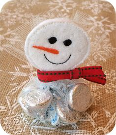 Snowman Favor Topper - Embroidery Garden In the Hoop Machine Embroidery Designs