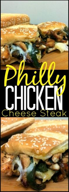 This Chicken Philly Cheese Steak is our absolute favorite sandwich and ready in . - This Chicken Philly Cheese Steak is our absolute favorite sandwich and ready in one skillet and on - Cheese Steak Sandwich Recipe, Steak Sandwich Recipes, Soup And Sandwich, Steak Recipes, Chicken Recipes, Cooking Recipes, Steak Sandwiches, Yummy Recipes, Yummy Food