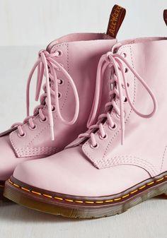 pink doc martens| up to size 11! kawaii pastel fairy kei hipster doc martens vintage fachin boots shoes plus plus shoes modcloth