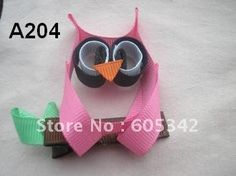 Free Shipping EMS+50 Pcs/Lot Cute Owl Character Children Baby Todder Girls Party Hair bows clip