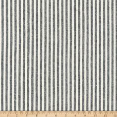Kaufman Essex Yarn Dyed Classic Wovens Linen Stripes Black from From Robert Kaufman this linen/ cotton blend woven fabric is lightweight and has a crisp hand. It is perfect for tops, dresses, skirts, and more! Colors include grey and white. Home Decor Fabric, Pattern Mixing, Fabric Swatches, Black Fabric, Woven Fabric, Grey And White, Paint Colors, Sewing Projects, Stripes