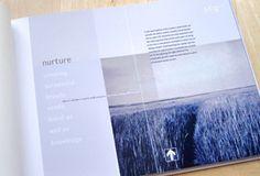 Brochure design example page - Nurture