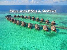 cheap water villas in maldives #VisitMaldives