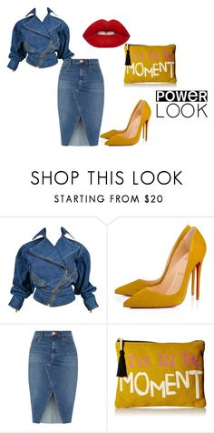 """Untitled #127"" by ashleigh-asha ❤ liked on Polyvore featuring Alaïa, Christian Louboutin, River Island, Twig & Arrow and Lime Crime"