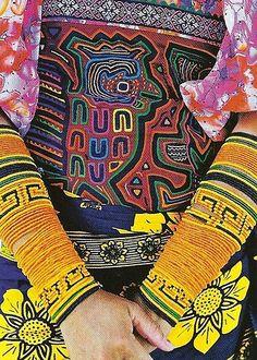 """Tissus """"Molas"""" - artisanat Kuna - Panama"""