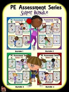 PE Assessment Series: Super Bundle: 24 Skill and Movement Assessment Packages Pe Lesson Plans, Promotion Strategy, Summative Assessment, Health And Physical Education, Pe Teachers, I Can Statements, Health Resources, Task Cards, Fun Workouts
