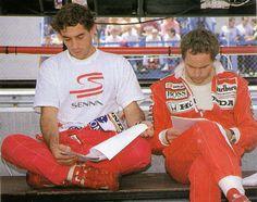 Ayrton with his close friend Gerherd Berger