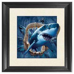 Sea Fierce Wild Shark Ambesonne Ocean Gym Bag Large Weekender Carry-on