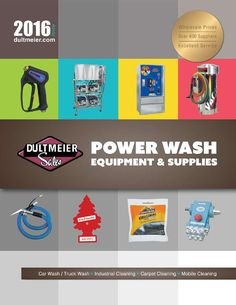 Dultmeier Sales | 2016 Carwash Equipment and Supplies Catalog