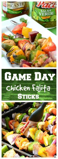 Friday night football means firing up the grill and serving up some winning eats the whole stadium will cheer for. These fajita sticks are easy, delicious and perfect for feasting on around the gridiron! #MakeGameTimeSaucy #ad