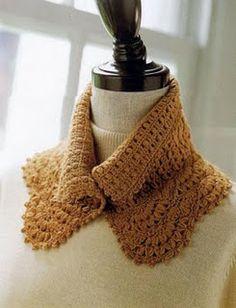 Handmade crochet Neckwarmer / Shoulderwarmer / Cowl / Stole / Free crochet pattern 1