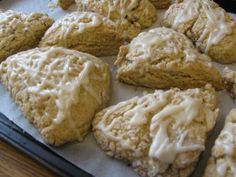 Lavendar-Orange Scones.  These are on a whole Foods/Clean Living?Weight Loss blog.  Truly not the best for weight loss IMHO but I think they sound diving and would be perfect for a sunday morning.