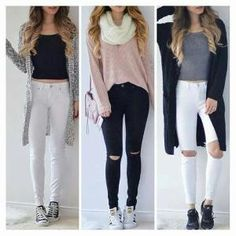 Next week outfits! Cute Teen Outfits, Cute Comfy Outfits, Teenager Outfits, Teen Fashion Outfits, Comfortable Outfits, Classy Outfits, Cute Fashion, Outfits For Teens, Trendy Outfits
