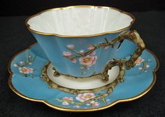 Japanese-que Antique Irish Belleek Tea Cup & Saucer ♥ Teapots And Cups, Teacups, Antique Tea Cups, Cuppa Tea, China Tea Cups, Tea Service, My Cup Of Tea, Vintage Tea, Vintage China