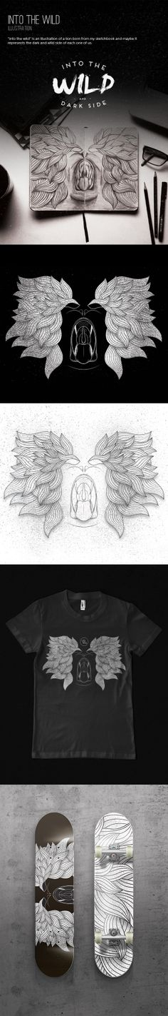 Into the wild - Illustration by Vitor Gomes, via Behance