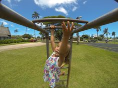 Kaimana Stone photographs his adorable niece having a blast at their local park. A tip for photographing kids: capturing them at play makes the photo more authentic and alive!