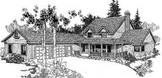 Farmhouse House Plan chp-18917 at COOLhouseplans.com