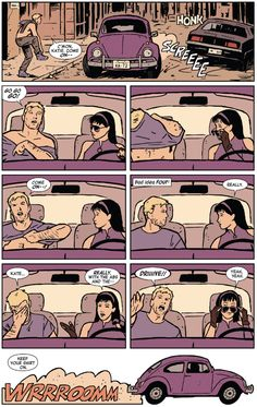 Hawkeye - The story of Hawkeye (Clint Barton) and Hawkeye (Kate Bishop) when they're not busy avenging shit. Actually they avenge a lot of shit. There's also a cute dog that loves pizza.