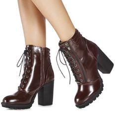 Burgundy Boots Brand new in box. Cute burgundy colored ankle boots with chunky 4 inch heel. Very comfortable. Purchased for $55 + shipping on heels.com. No trades. No PayPal. JustFab Shoes Ankle Boots & Booties