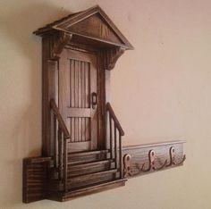 Ручная работа Оригинальная деревянная ключница