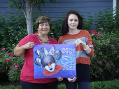Such an outstanding design!  Jessica Cirullo, winner of the 2012 Frankfort Fall Festival poster contest, with 2012 Chairman, Cindy Heath.  Jessica is a high school student at Lincoln Way East High School in Frankfort, IL.  See more at www.facebook.com/FrankfortFallFestival
