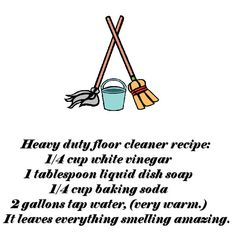 Heavy duty floor cleaner recipe
