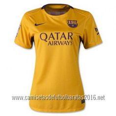 Camiseta de fútbol baratas mujer Barcelona 2016 2ª equipación