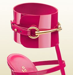 patent leather ankle-strap sandal