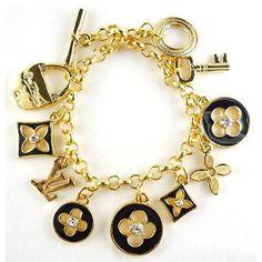 24K gold Louis Vuitton charms Bracelet