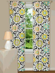 30 Gardinendekoration Beispiele – die Fenster kreativ verkleiden - fenstergardinen gardinendekoration beispiele blumenmuster