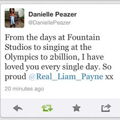 DANIELLE IS SO SWEET <3 I LOVE HER SOOO MUCH <3 <3 they are sooo perfect for each other!!!