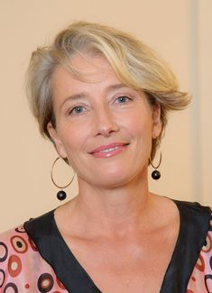 11 celebrities who have spoken up about their experiences with miscarriages and infertility. Shown: Emma Thompson. Latest Short Hairstyles, Hairstyles Over 50, Trending Hairstyles, Cool Hairstyles, Emma Thompson, Short Hair Updo, Short Hair Styles, Celebrity Short Hair, Celebrity Hairstyles
