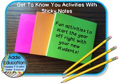 Back To School Fun With Sticky Notes - Fun and easy ideas to use as you start a new school year!