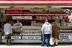 Pick up a box of saltwater taffy from Dolle's, 500 South Boardwalk at Wicomico Street.