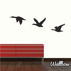 Flying Ducks Wall Stickers Decoration Birds by Wallboss on Etsy, £19.99