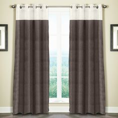 Grand Luxe Linen Monterey Grommet Curtain Panel - Overstock™ Shopping - Great Deals on Grand Luxe Curtains