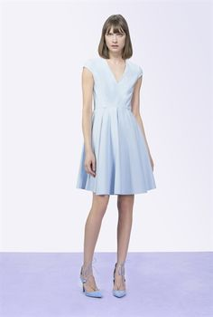 Pinko SHORT DRESS IN TECHNICAL STRETCH FABRIC