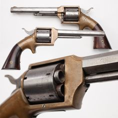 Lucius W. Pond Front Loading Revolver- This revolver is loaded by removable steel chambers from the cylinder and packing them individually. The odd mechanics of this pistol can be explained by Pond's efforts to avoid patent infringement on Rollin White's cylinder patent held by Smith and Wesson. The Pond Separate Chambers Revolver was produced during the years, circa 1860–1873. The design was not very practical and phased out to the superior revolver models of Smith, Remington, and Colt.