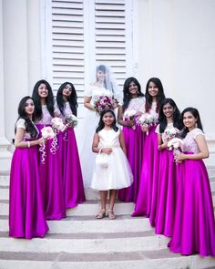 Dress Code Ideas For Bridesmaid, Gallery. Indian Wedding Bridesmaids, Indian Bridesmaid Dresses, Bridesmaid Saree, Indian Wedding Gowns, Bridesmaid Outfit, Saree Wedding, Bridal Dresses, Long Gown Dress, The Dress