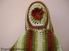 Fancy 3d Stitch Crochet Scarf With Hood