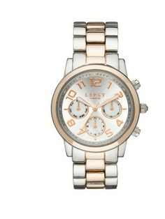 Lipsy Silver and Rose Gold Tone Alloy Bracelet Ladies Watch, http://www.littlewoodsireland.ie/lipsy-silver-and-rose-gold-tone-alloy-bracelet-ladies-watch/1298330704.prd
