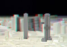 https://flic.kr/p/FBzsA5   Maquette Rotterdam VVV Discovery 3D   anaglyph stereo red-cyan  Cooltower Baantoren