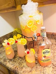 Pink Lemonade Margaritas with extra Jose Cuervo Party Drinks Alcohol, Alcohol Drink Recipes, Liquor Drinks, Cocktail Drinks, Liquor Mixers, Punch Recipes, Summer Drinks, Fun Drinks, Beverages